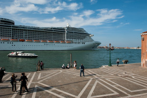 My Venice - the cruise ship against the city